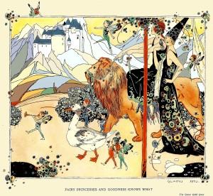 Lion and fairy princess