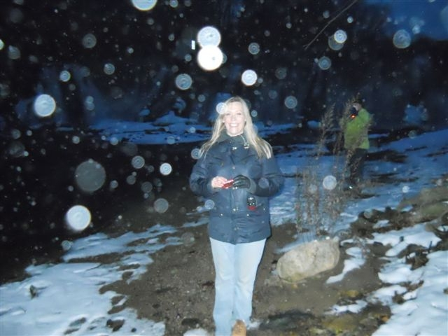 My friend Christine with LOTS of orbs